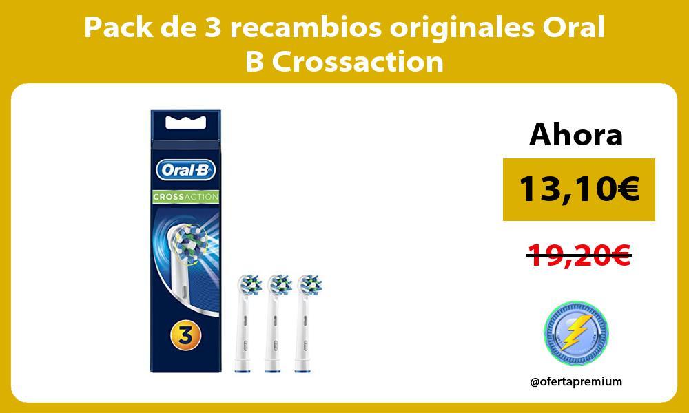 Pack de 3 recambios originales Oral B Crossaction