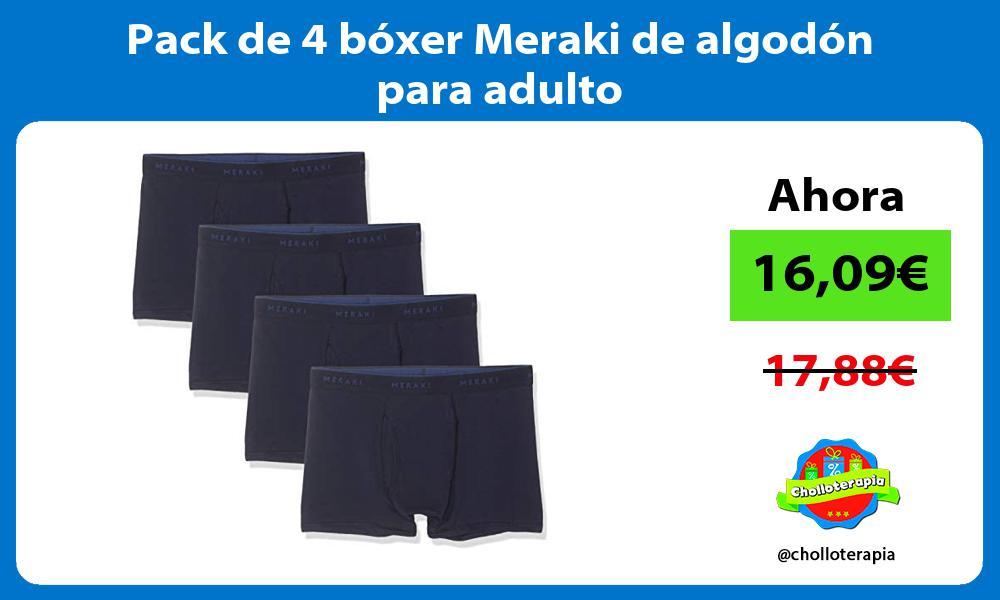 Pack de 4 bóxer Meraki de algodón para adulto