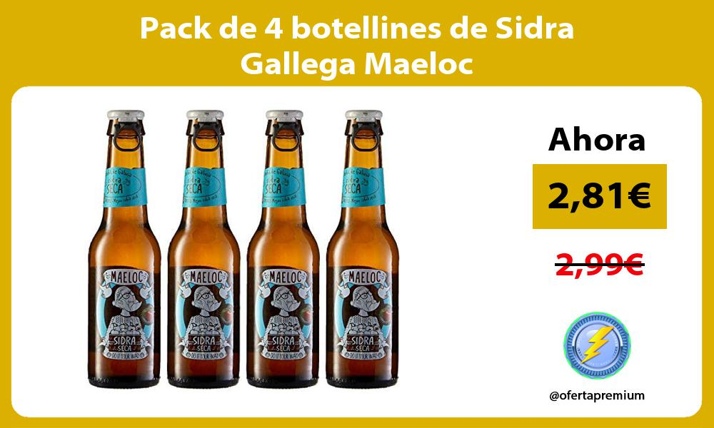 Pack de 4 botellines de Sidra Gallega Maeloc