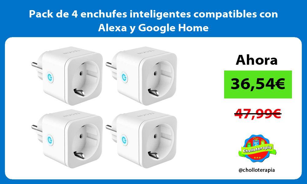 Pack de 4 enchufes inteligentes compatibles con Alexa y Google Home