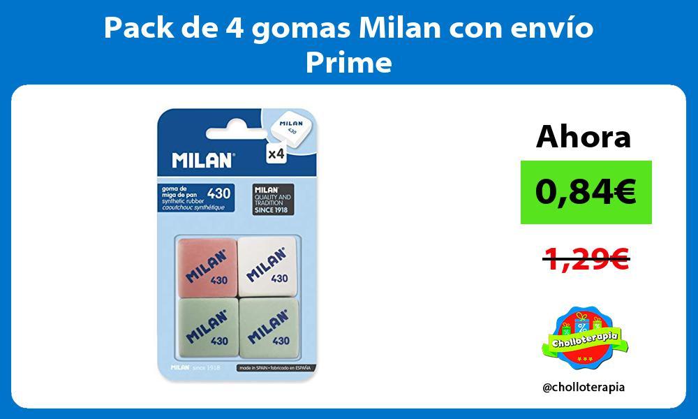 Pack de 4 gomas Milan con envío Prime