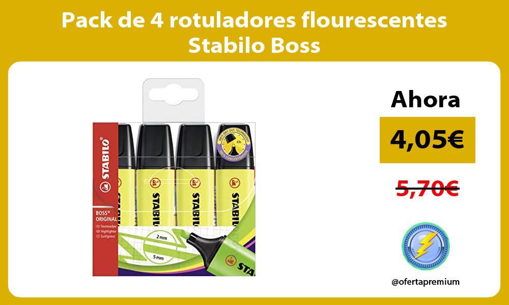 Pack de 4 rotuladores flourescentes Stabilo Boss