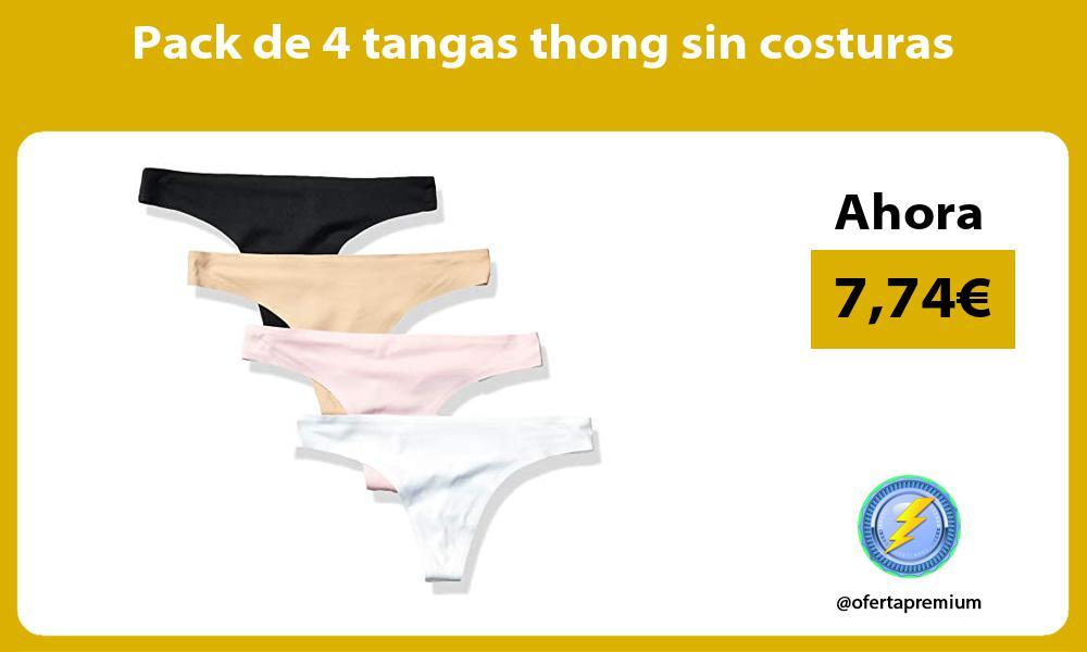 Pack de 4 tangas thong sin costuras
