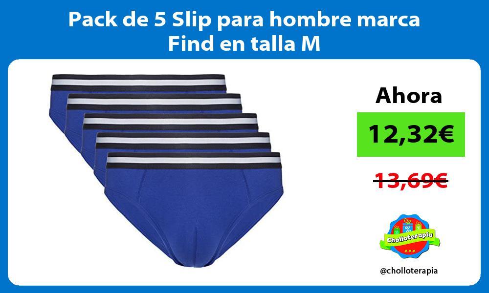 Pack de 5 Slip para hombre marca Find en talla M