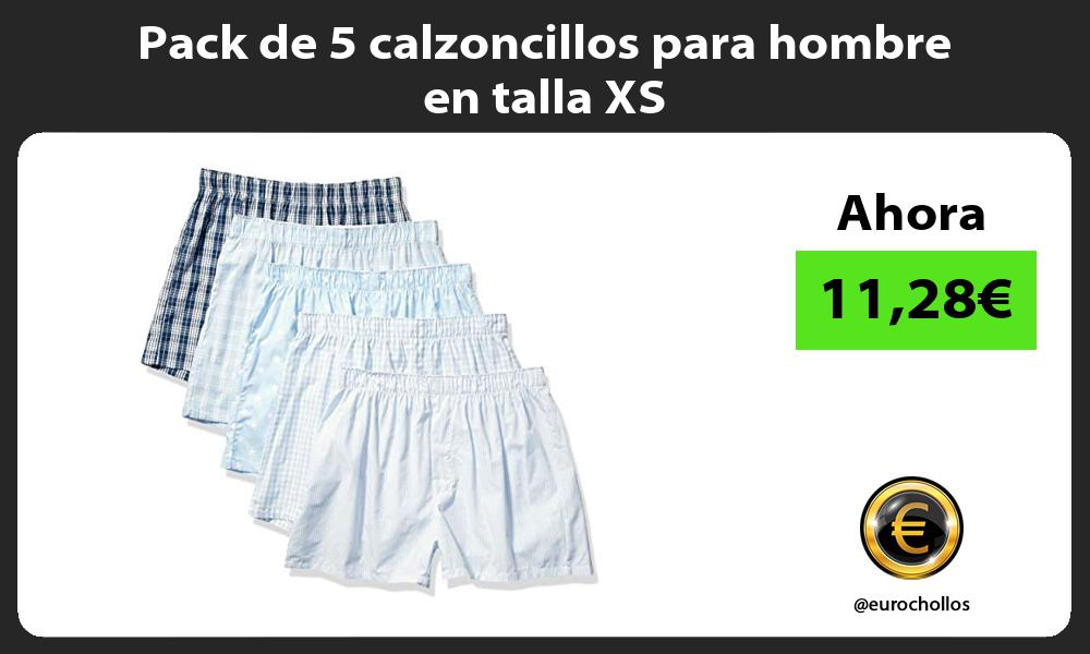 Pack de 5 calzoncillos para hombre en talla XS