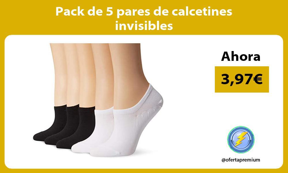 Pack de 5 pares de calcetines invisibles