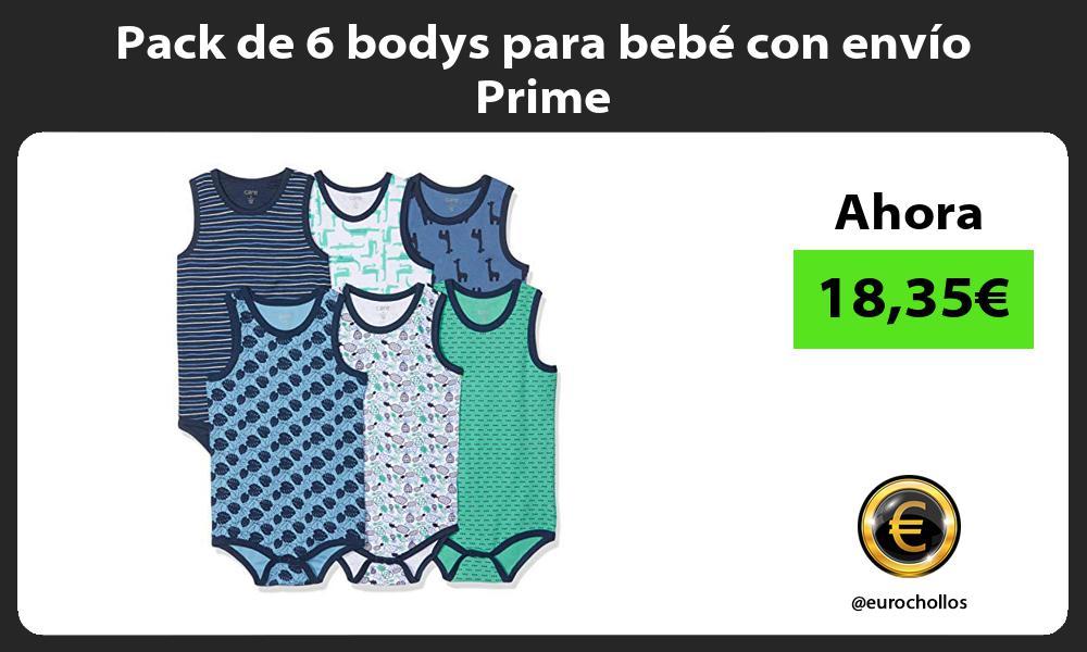 Pack de 6 bodys para bebé con envío Prime