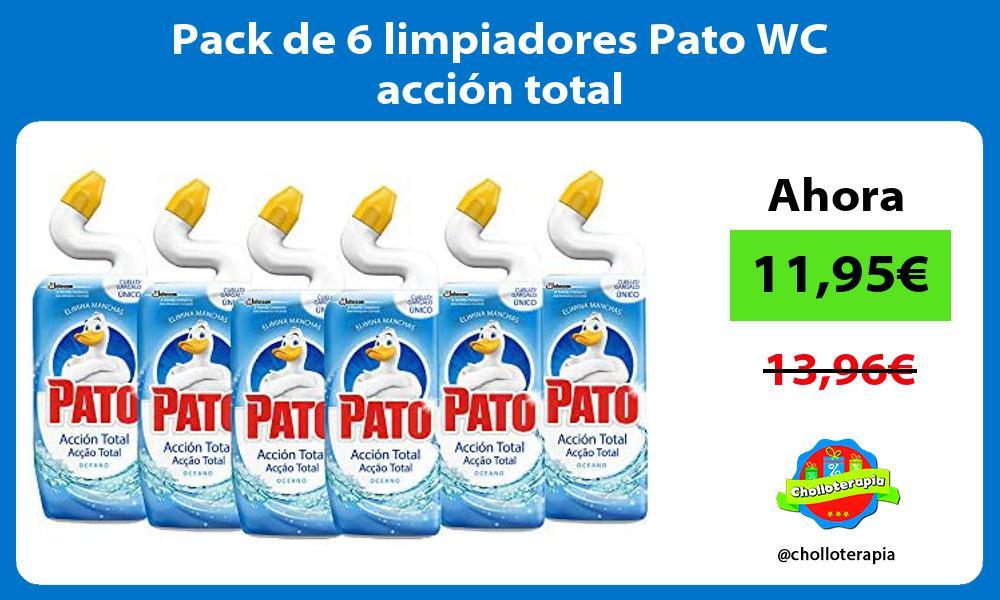 Pack de 6 limpiadores Pato WC acción total