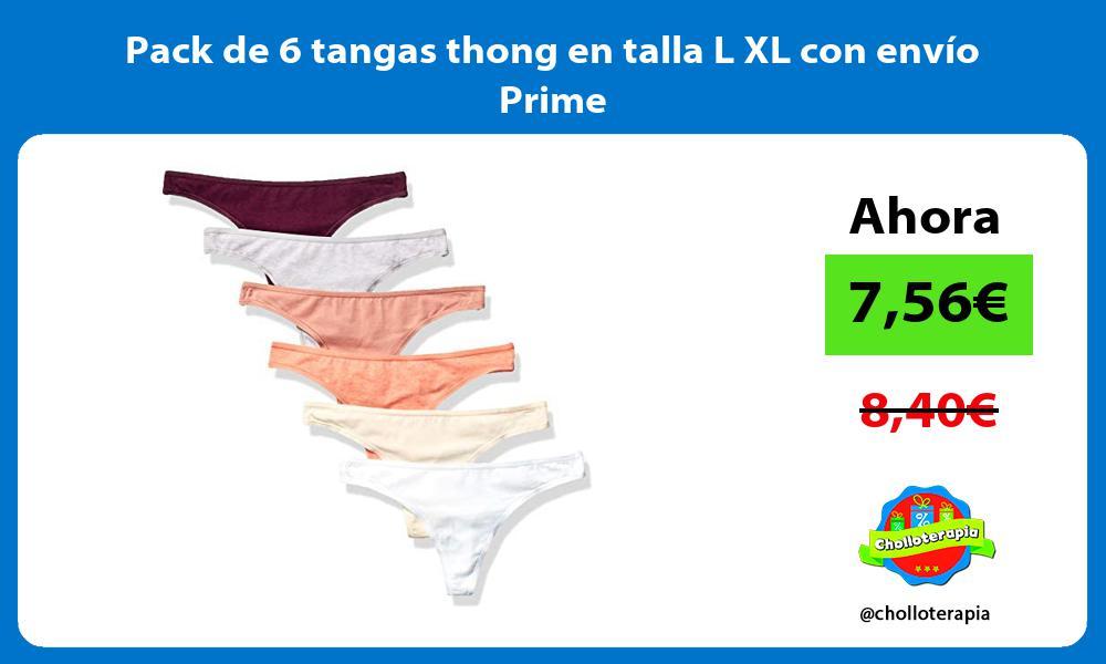 Pack de 6 tangas thong en talla L XL con envío Prime