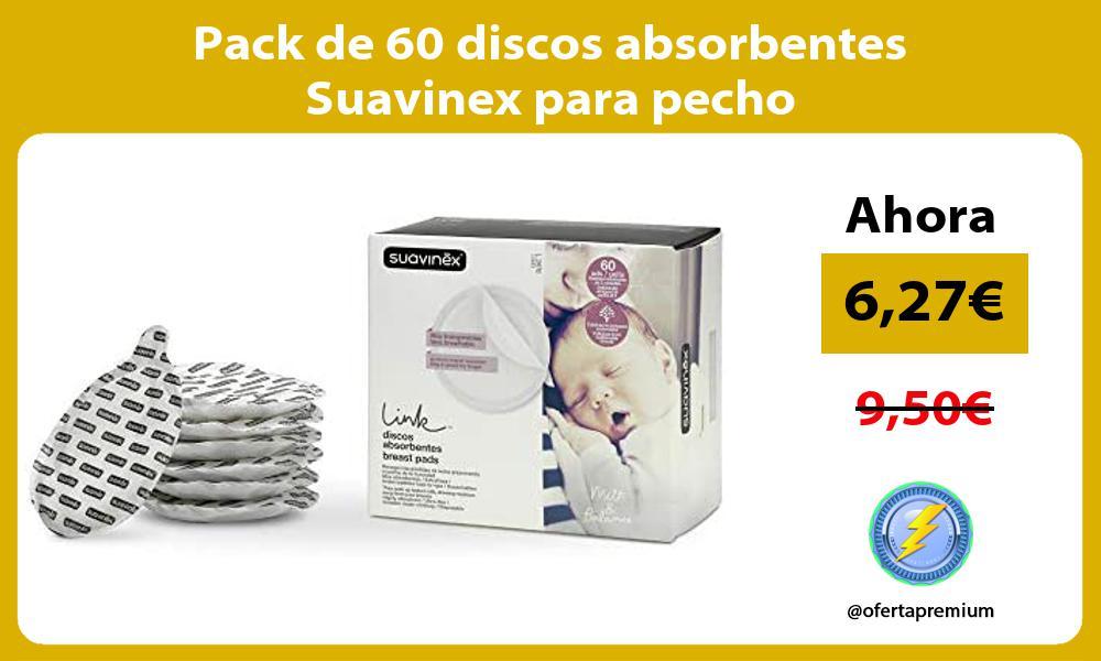 Pack de 60 discos absorbentes Suavinex para pecho