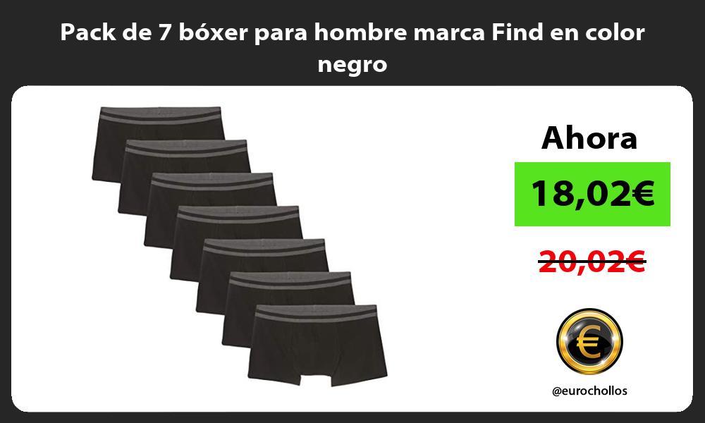 Pack de 7 bóxer para hombre marca Find en color negro