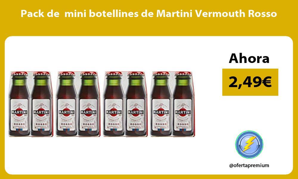 Pack de mini botellines de Martini Vermouth Rosso