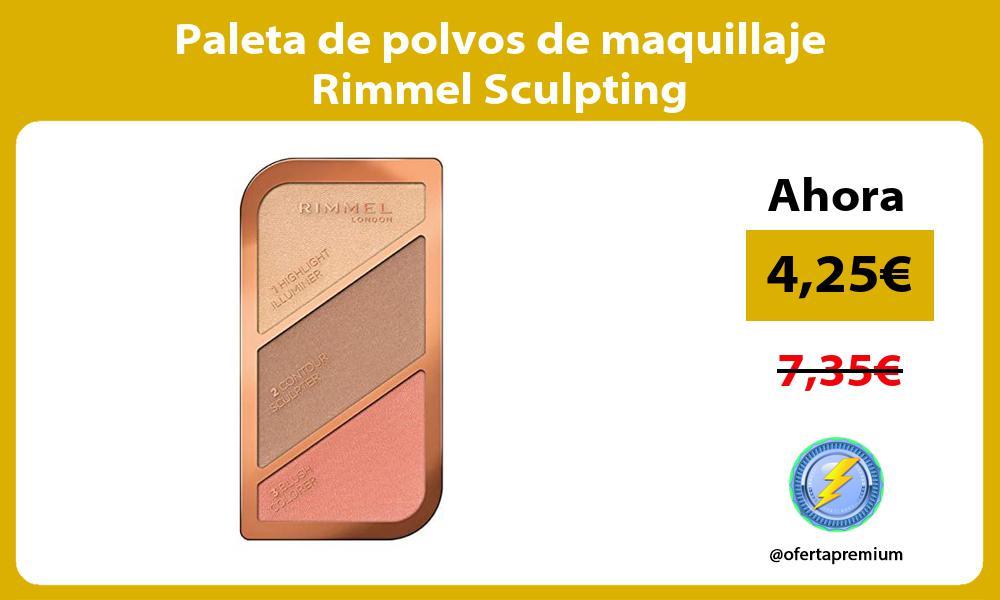 Paleta de polvos de maquillaje Rimmel Sculpting