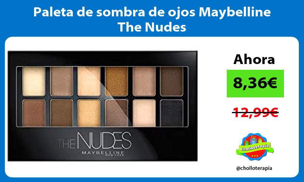 Paleta de sombra de ojos Maybelline The Nudes