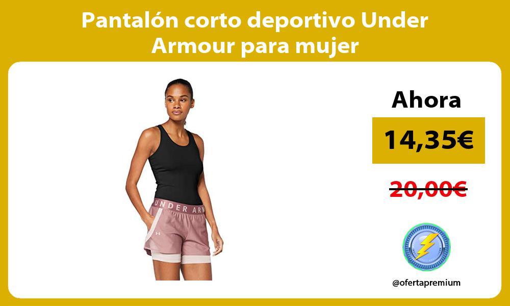 Pantalón corto deportivo Under Armour para mujer
