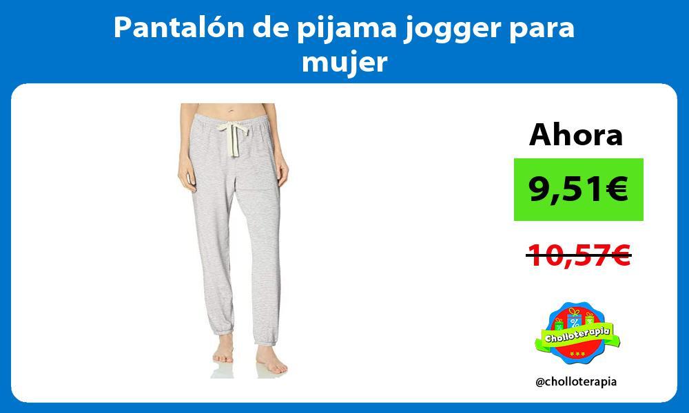 Pantalón de pijama jogger para mujer