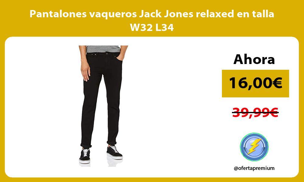 Pantalones vaqueros Jack Jones relaxed en talla W32 L34