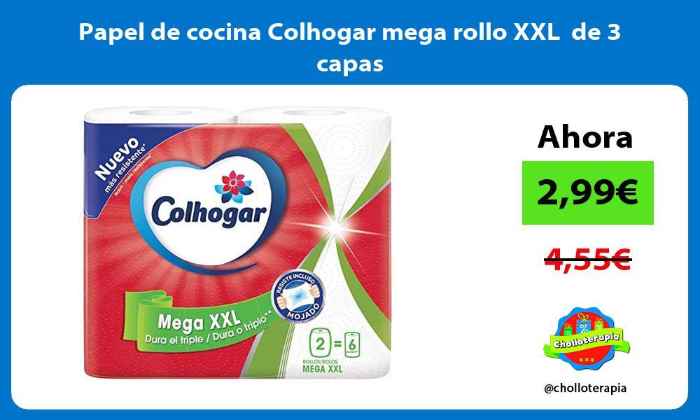 Papel de cocina Colhogar mega rollo XXL de 3 capas