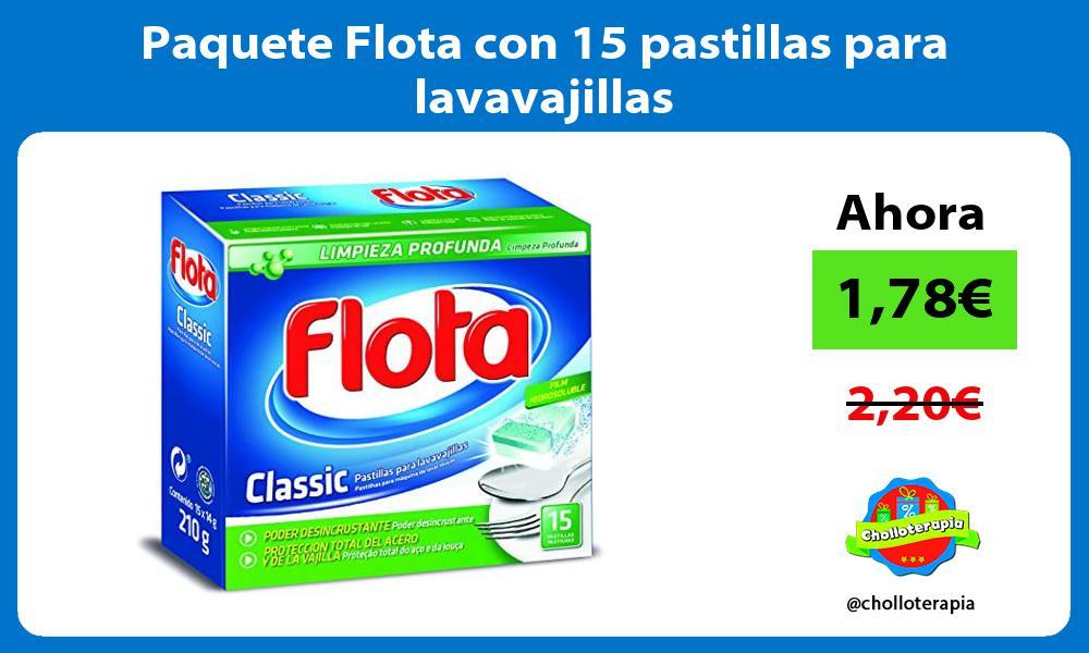 Paquete Flota con 15 pastillas para lavavajillas