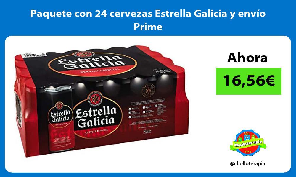 Paquete con 24 cervezas Estrella Galicia y envío Prime