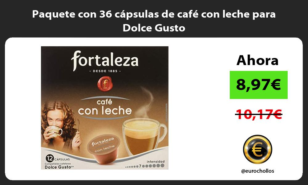 Paquete con 36 cápsulas de café con leche para Dolce Gusto