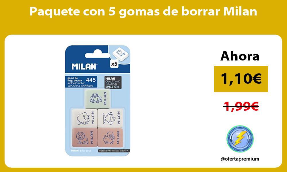 Paquete con 5 gomas de borrar Milan