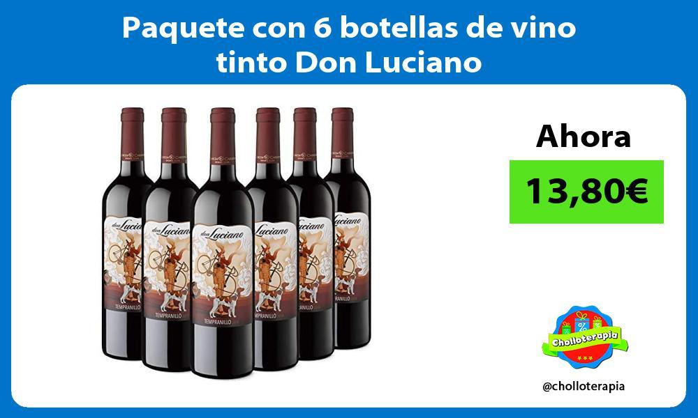 Paquete con 6 botellas de vino tinto Don Luciano