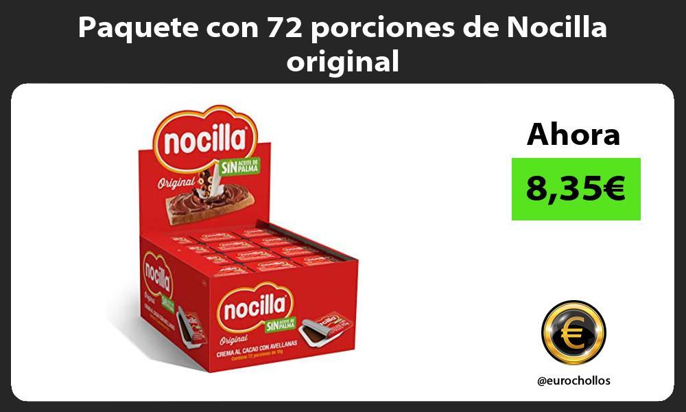 Paquete con 72 porciones de Nocilla original