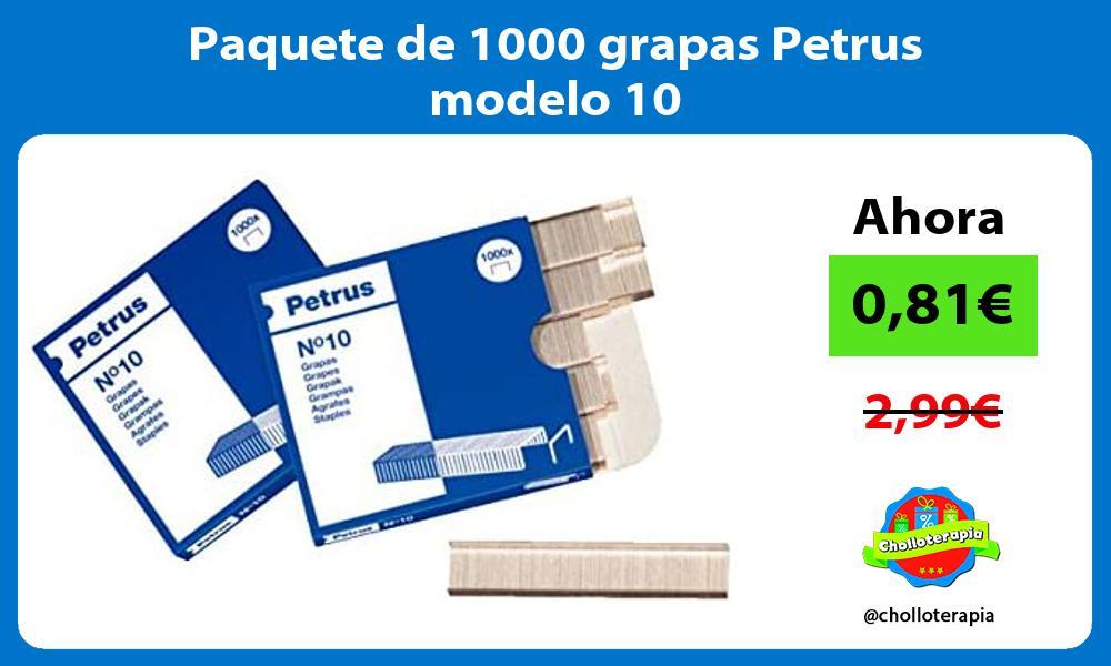 Paquete de 1000 grapas Petrus modelo 10
