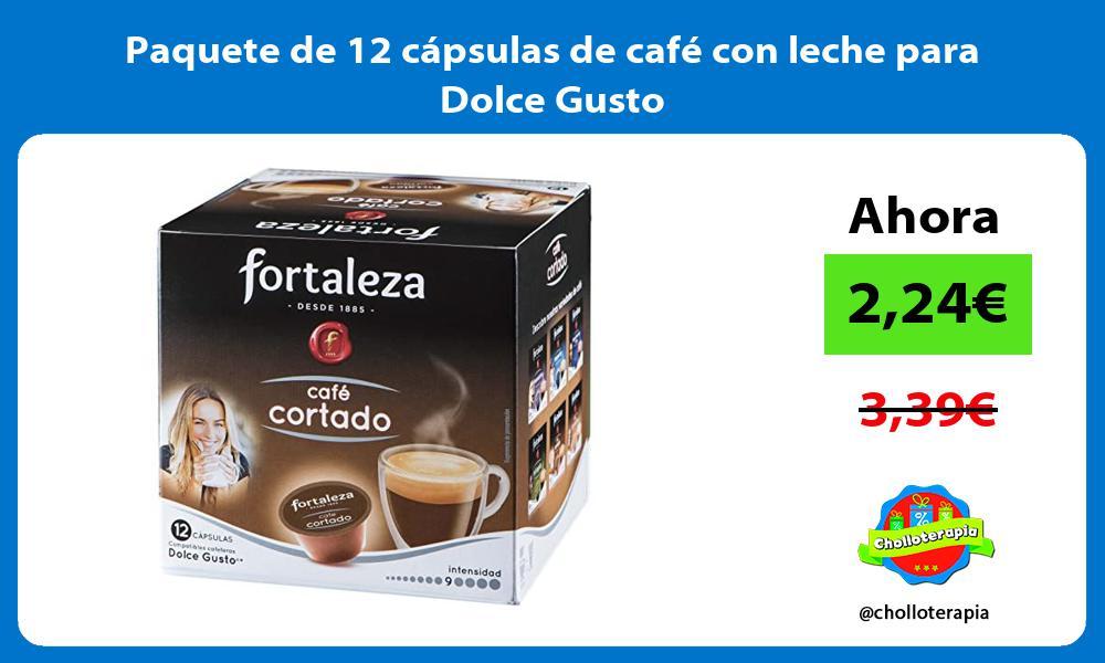 Paquete de 12 cápsulas de café con leche para Dolce Gusto