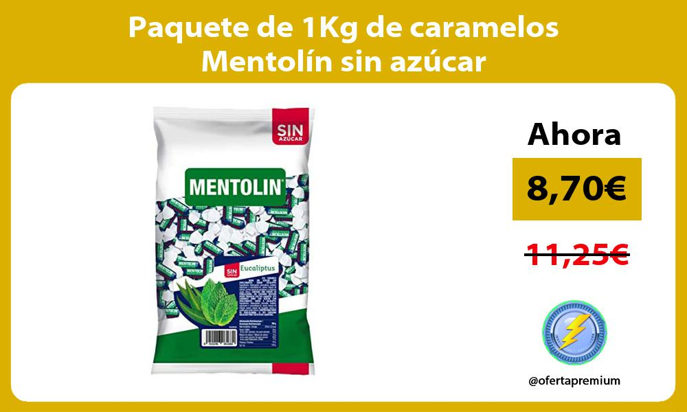 Paquete de 1Kg de caramelos Mentolín sin azúcar