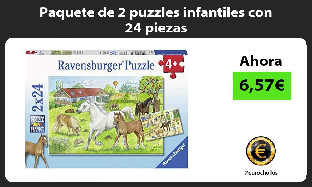 Paquete de 2 puzzles infantiles con 24 piezas