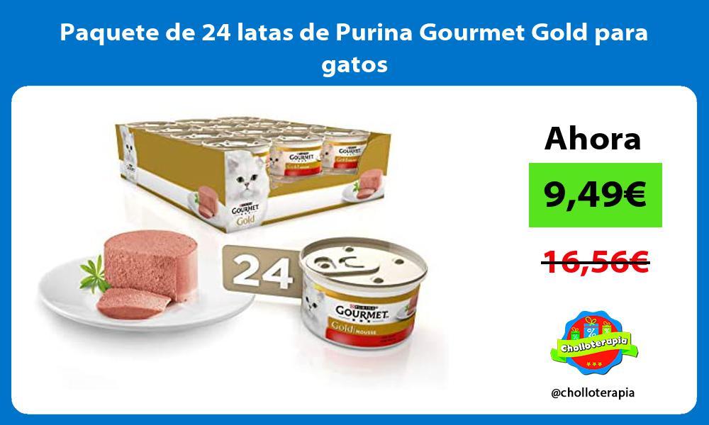 Paquete de 24 latas de Purina Gourmet Gold para gatos