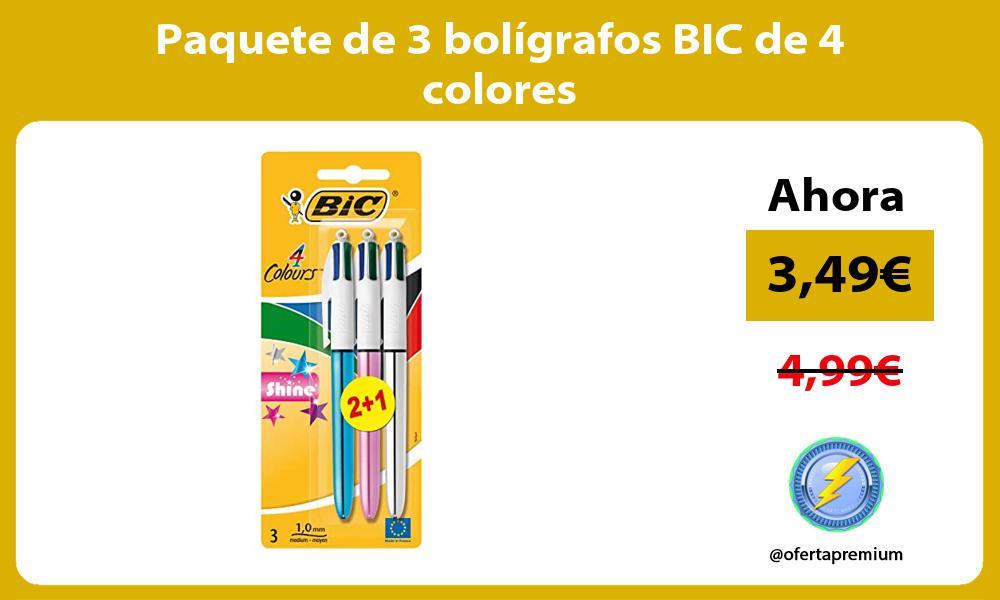 Paquete de 3 bolígrafos BIC de 4 colores