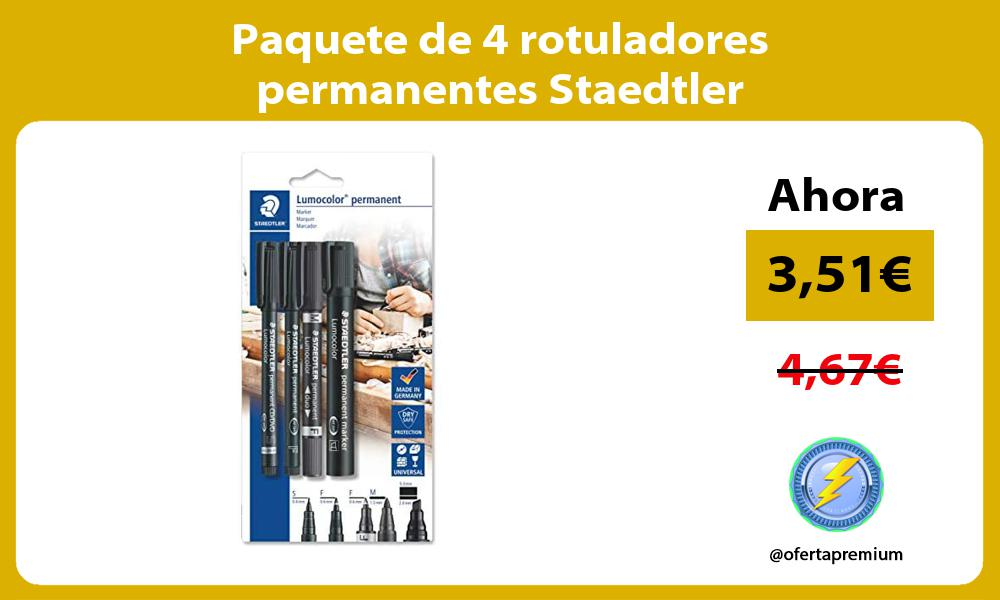 Paquete de 4 rotuladores permanentes Staedtler