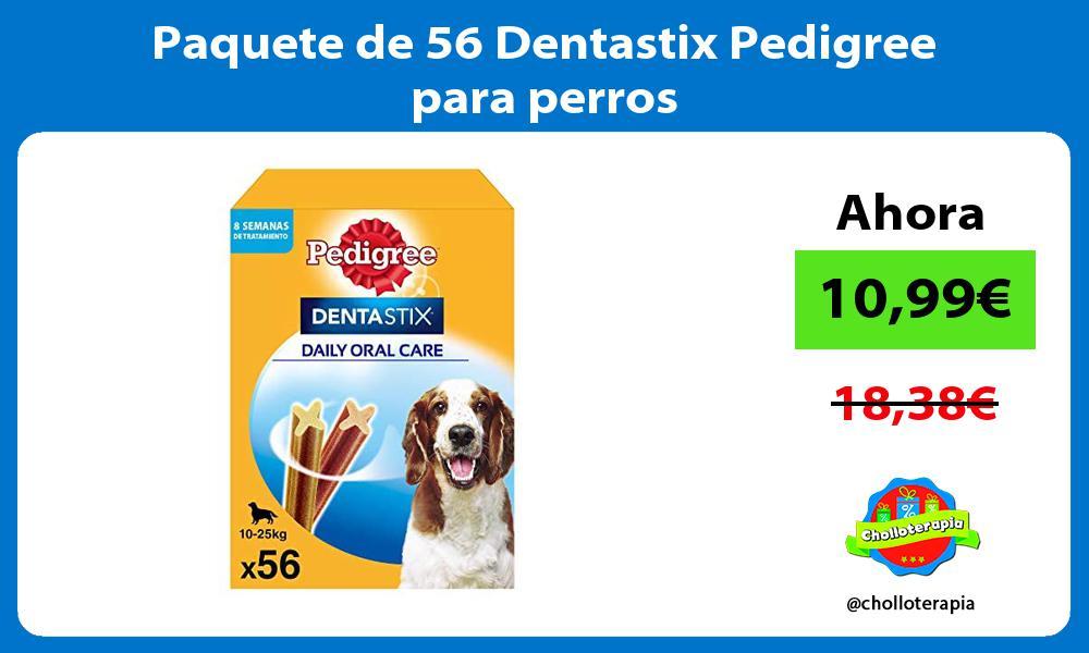 Paquete de 56 Dentastix Pedigree para perros