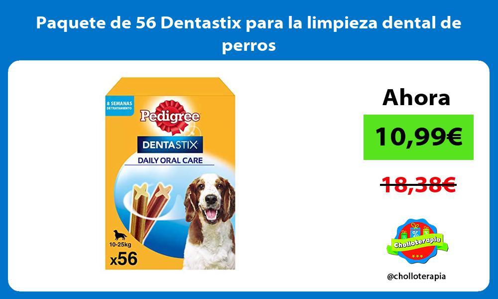 Paquete de 56 Dentastix para la limpieza dental de perros