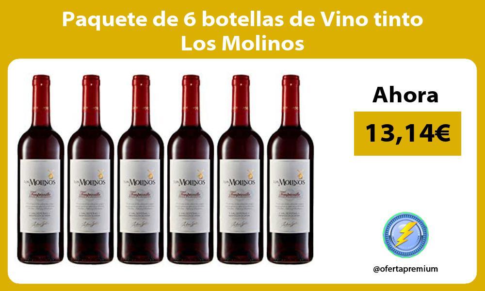 Paquete de 6 botellas de Vino tinto Los Molinos