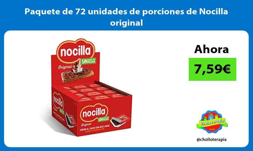 Paquete de 72 unidades de porciones de Nocilla original
