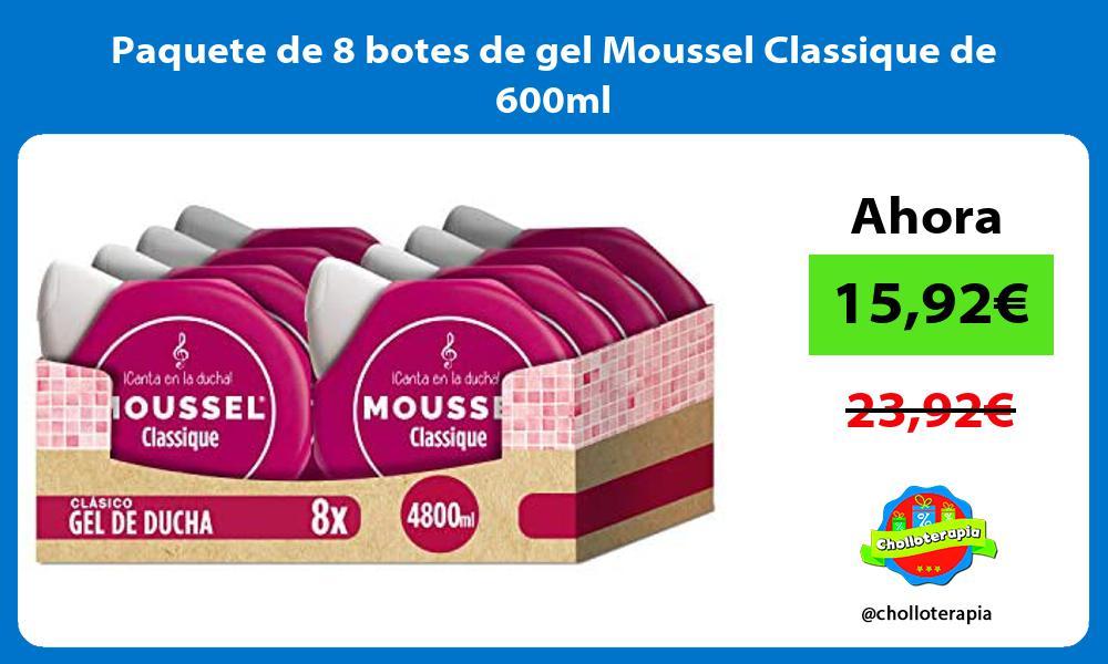 Paquete de 8 botes de gel Moussel Classique de 600ml