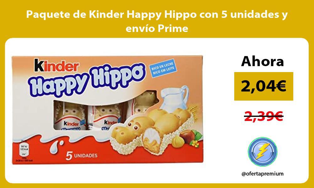 Paquete de Kinder Happy Hippo con 5 unidades y envío Prime
