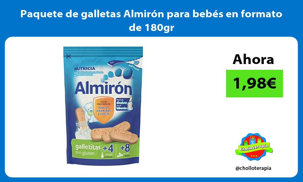 Paquete de galletas Almirón para bebés en formato de 180gr