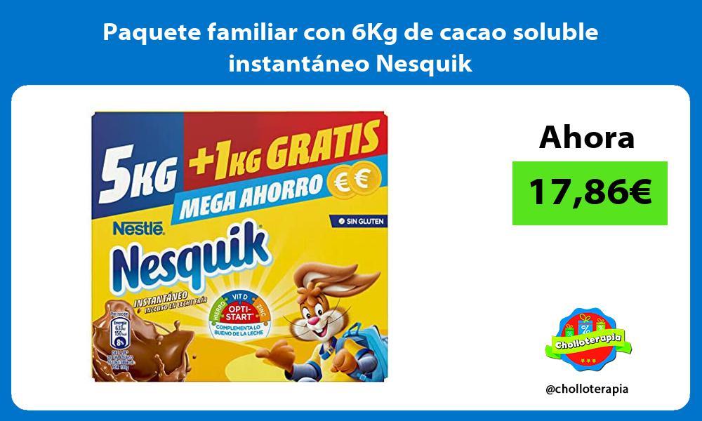Paquete familiar con 6Kg de cacao soluble instantáneo Nesquik