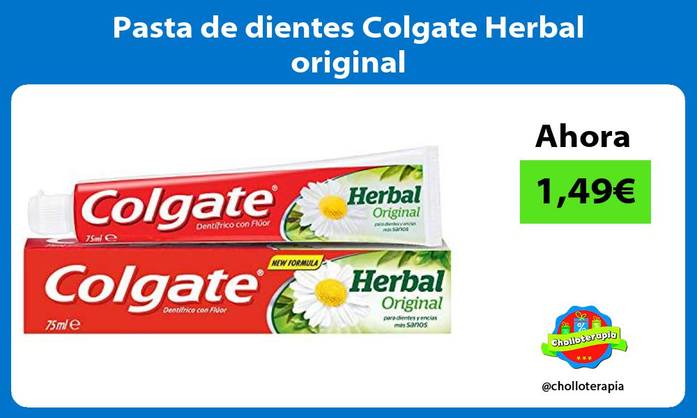 Pasta de dientes Colgate Herbal original