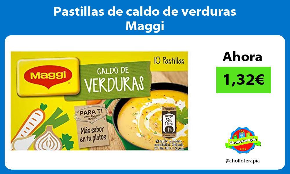 Pastillas de caldo de verduras Maggi