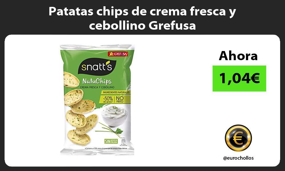 Patatas chips de crema fresca y cebollino Grefusa