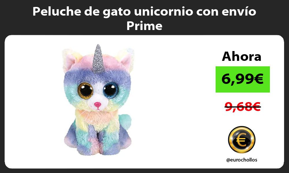 Peluche de gato unicornio con envío Prime