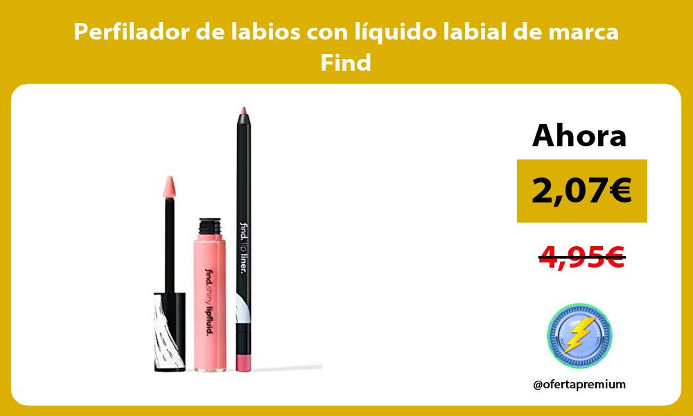 Perfilador de labios con líquido labial de marca Find