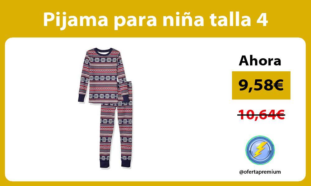 Pijama para niña talla 4