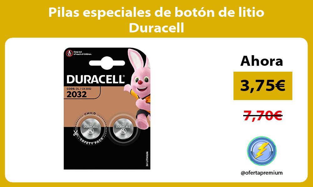 Pilas especiales de botón de litio Duracell